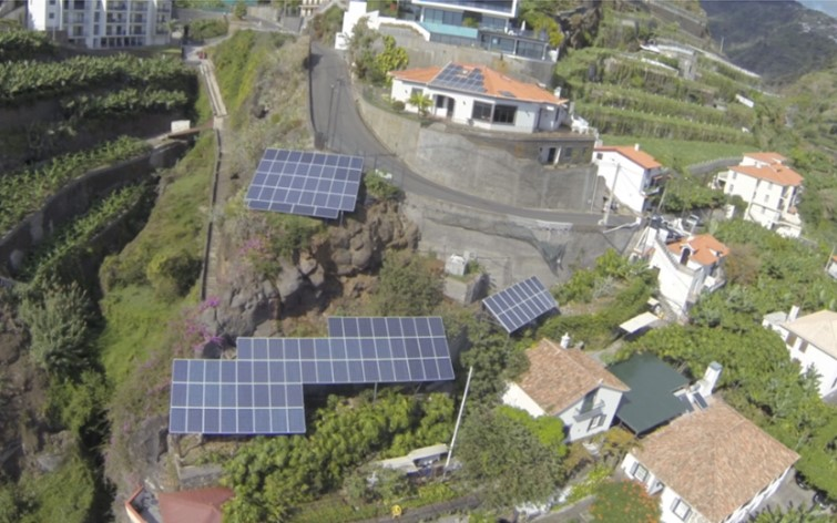 Photovoltaic solar plant installation on Madeira by FactorENERGIA