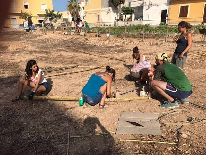 Practical work in the P'orto of Lampedusa project